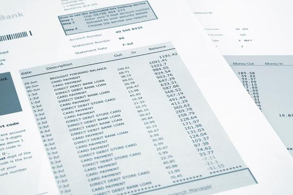 Bank Statement - GettyImages-475089756