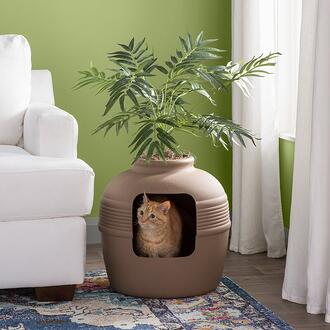 Elijah+Covered+Hidden+Cat+Litter+Box+with+Decorative+Planter