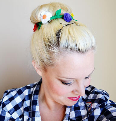 flower bun wrap