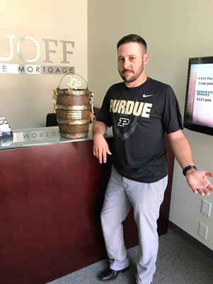 Ryan Langley is the branch manager for Ruoff Home Mortgage's Bloomington, Indiana branch