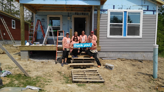 Ruoff Home Mortgage's Bloomington, Indiana branch volunteered with Habitat for Humanity