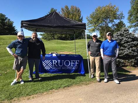 The Ruoff Home Mortgage's Bloomington, Indiana branch participated in the Building Association of South Central Indiana  golf outting
