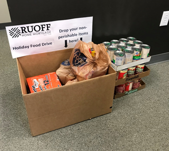 Ruoff's Bloomington, Indiana branch hosted a food drive