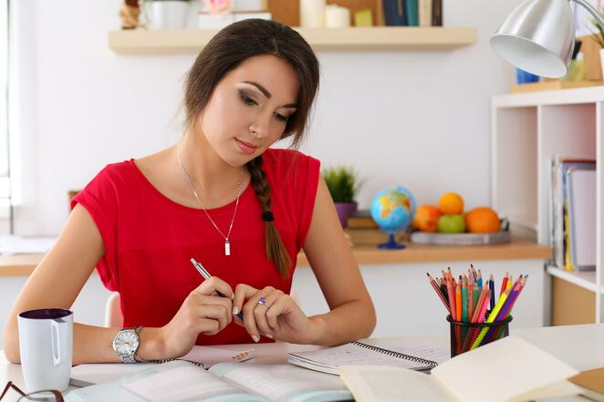 Young graduate creating a plan for her future